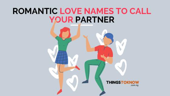 romantic love names