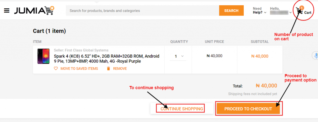 How to Place An Order on Jumia