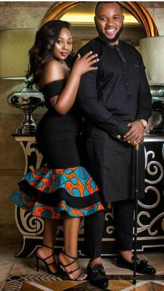 classy Black Couples Ankara Style