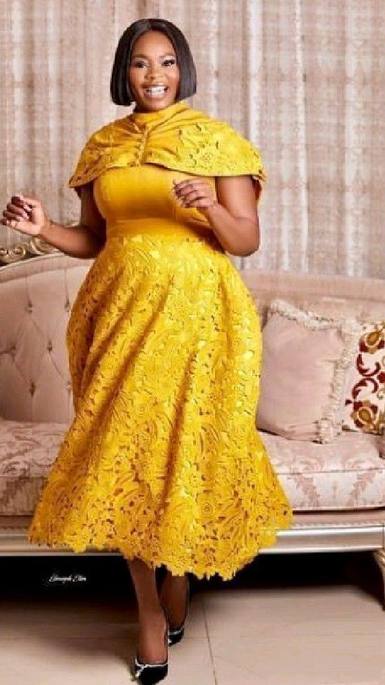Lace and Ankara Combine Style