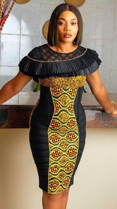 Body Fitted Gown Ankara Style