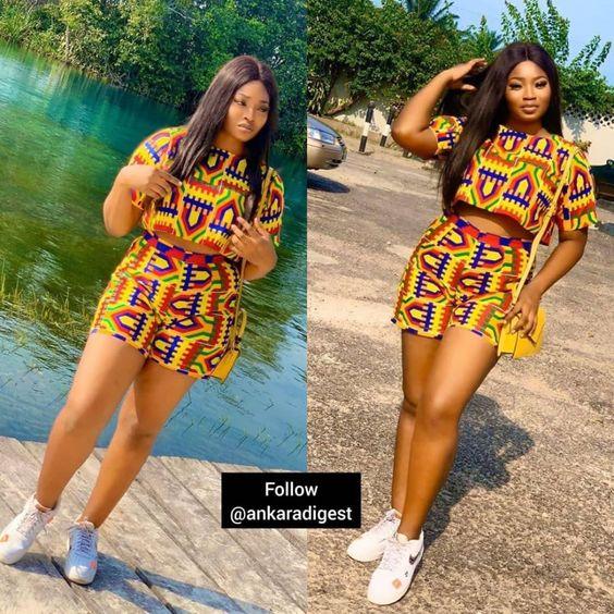 Short and blouse Ankara Style